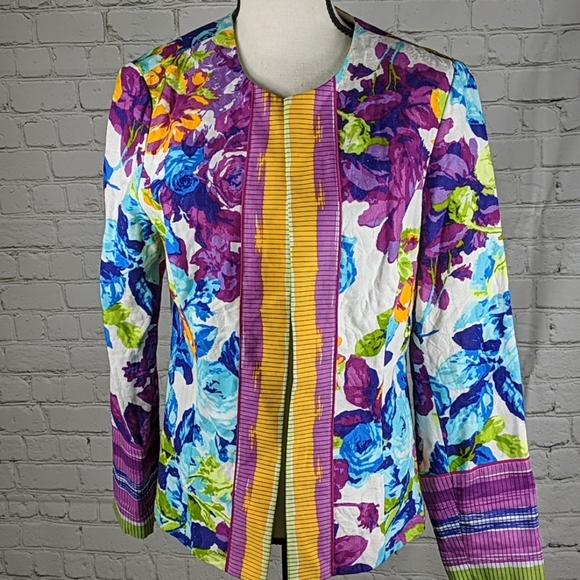 Peck & Peck Jackets & Blazers - Peck and peck flowered jacket
